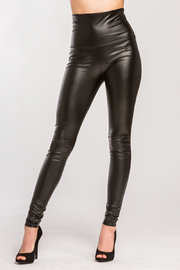 Lyn-Maree's  Faux Leather High Waist Leggings - Product Mini Image
