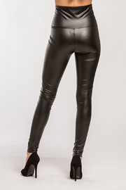 Lyn-Maree's  Faux Leather High Waist Leggings - Side cropped
