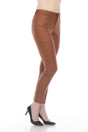 AZI Jeans Faux Leather Jeans - Front cropped