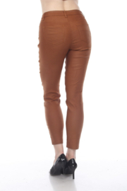 AZI Jeans Faux Leather Jeans - Front full body