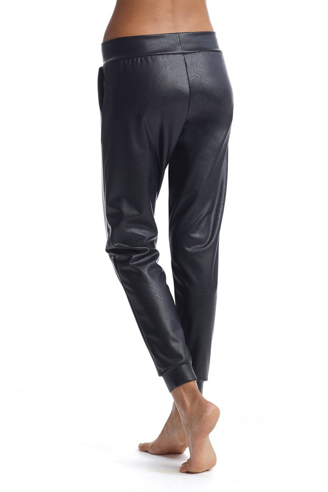 Commando  Faux Leather Jogger - Side Cropped Image