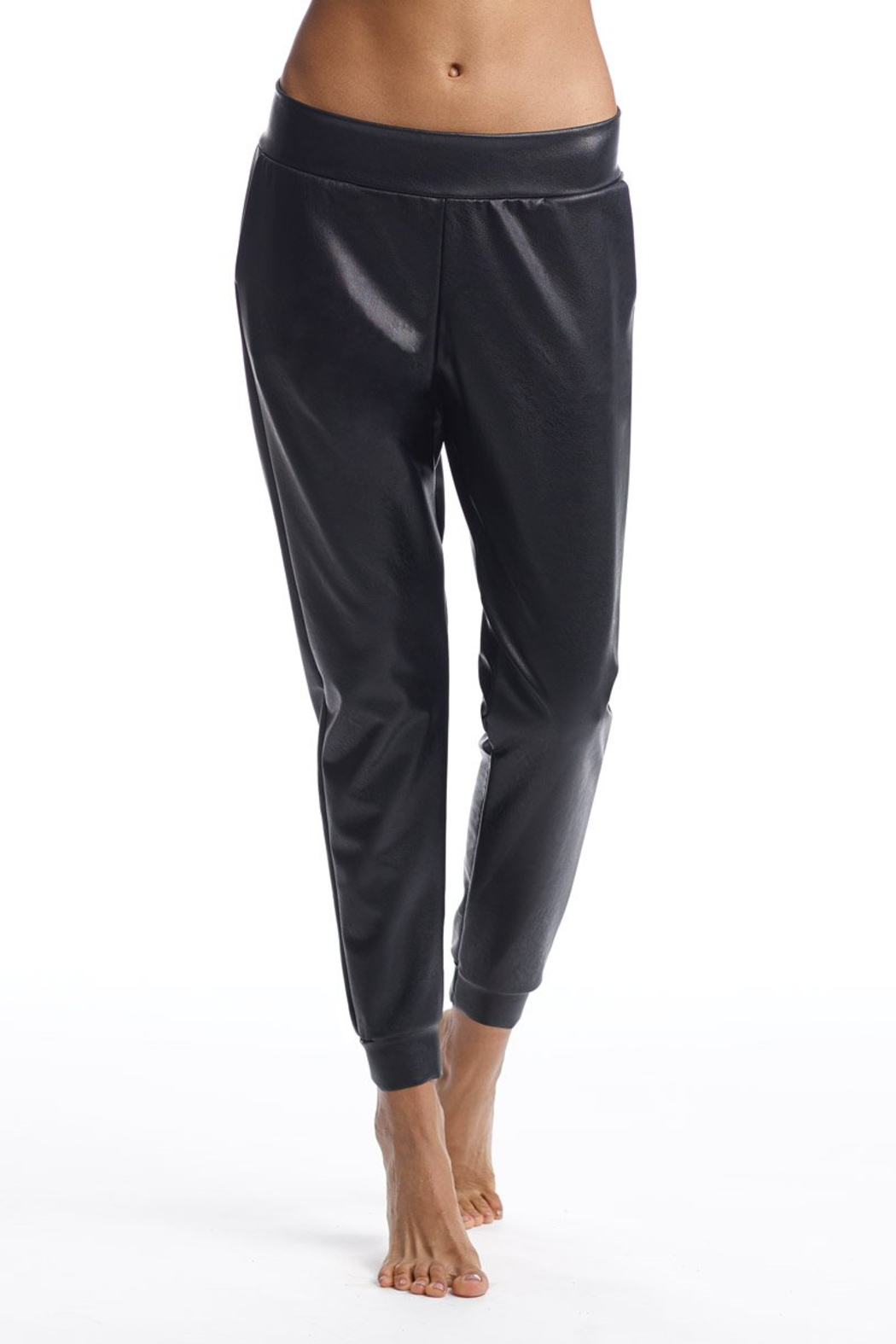 Commando  Faux Leather Jogger - Front Full Image