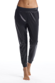 Commando  Faux Leather Jogger - Front full body