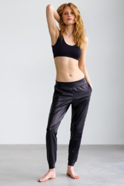 Commando  Faux Leather Jogger - Front cropped