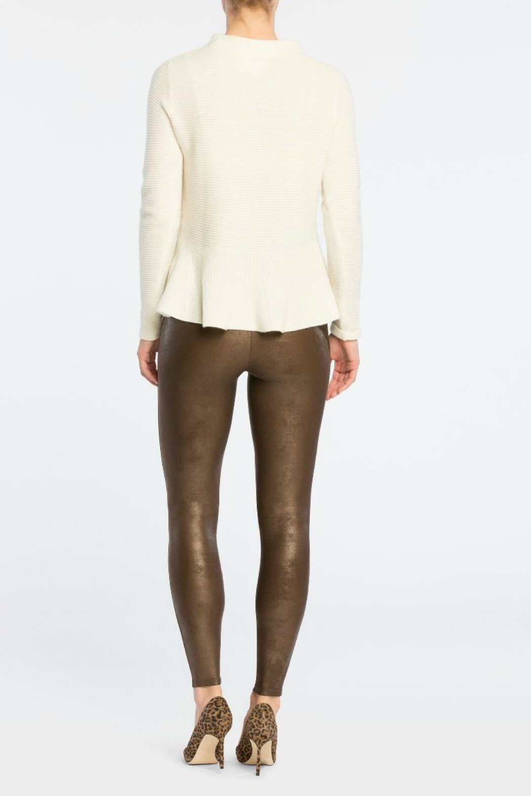 Spanx Faux Leather Leggings - Back Cropped Image