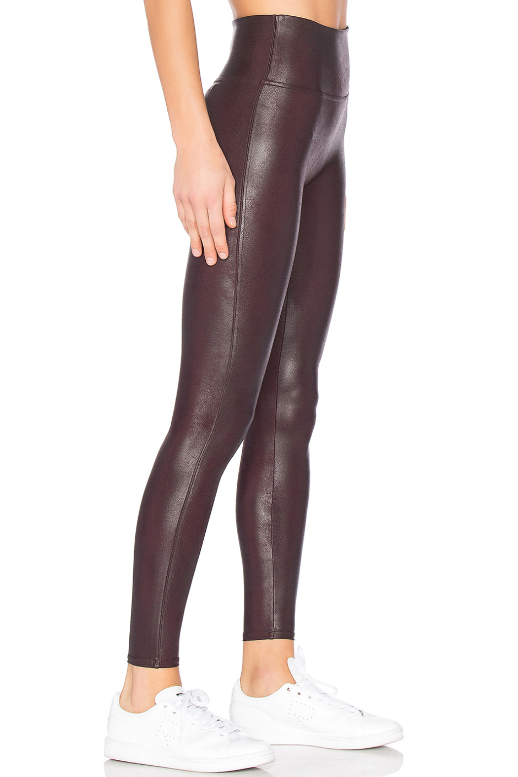 Spanx Faux Leather Leggings - Front Full Image