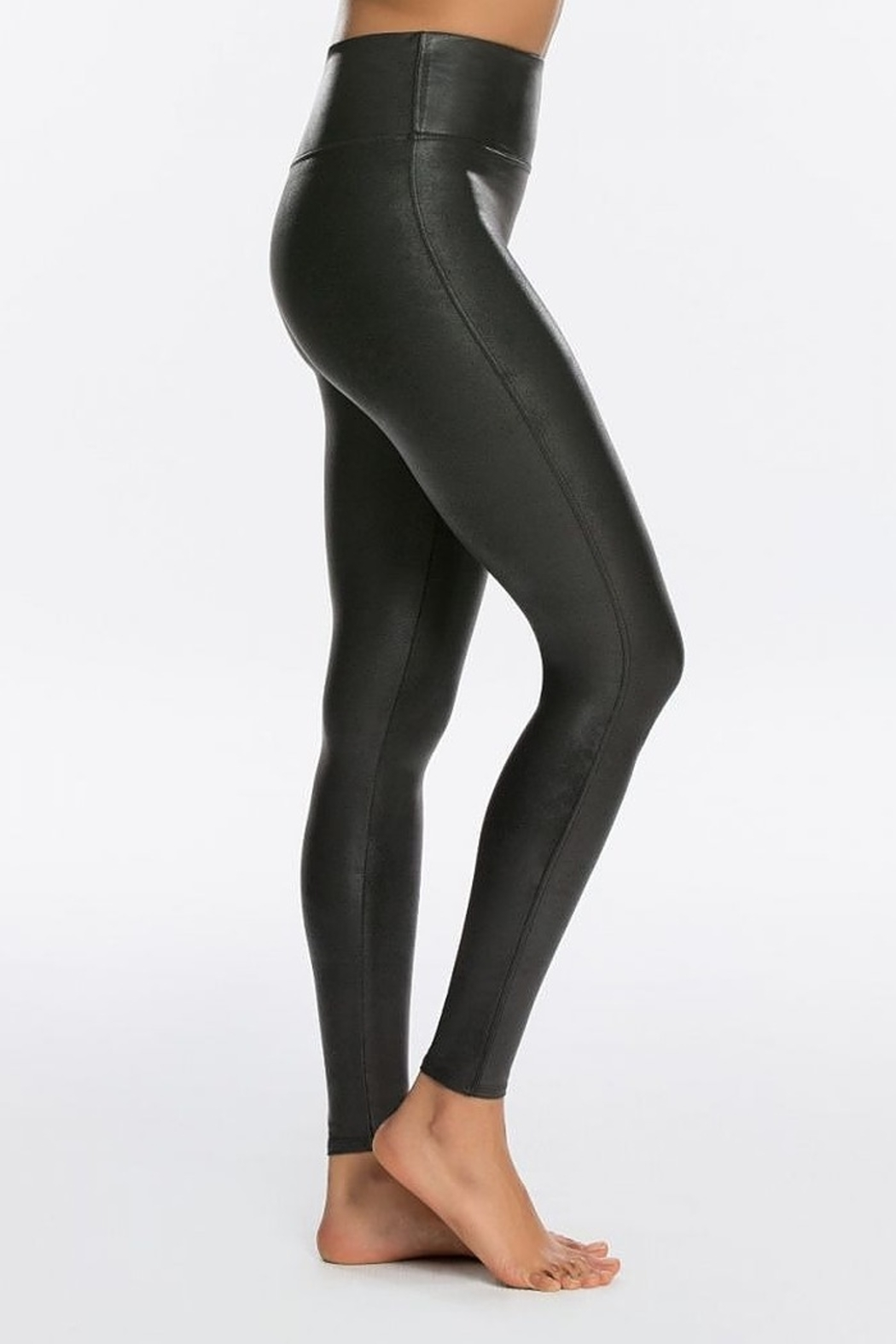 Spanx Faux Leather Leggings - Side Cropped Image