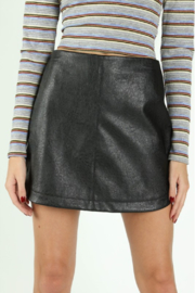Wild Honey Faux Leather Mini Skirt - Front cropped