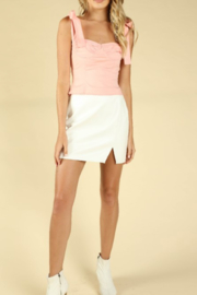 Wild Honey Faux Leather Mini Skirt - Product Mini Image