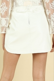 Wild Honey Faux Leather Mini Skirt - Side cropped