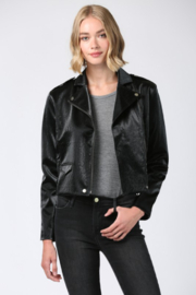 Fate Faux Leather Moto Jacket - Front cropped