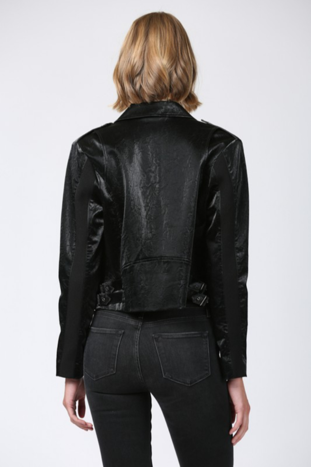 Fate Faux Leather Moto Jacket - Side Cropped Image