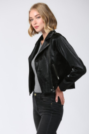 Fate Faux Leather Moto Jacket - Back cropped