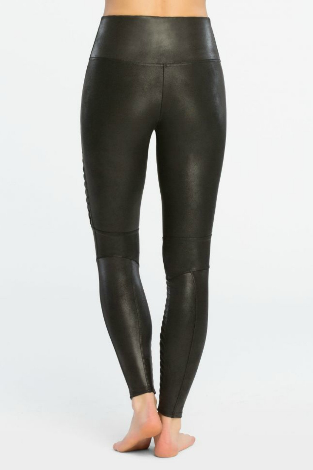 Spanx Faux Leather Moto Legging - Front Full Image