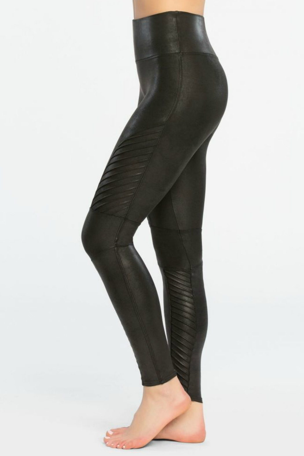 Spanx Faux Leather Moto Legging - Front Cropped Image