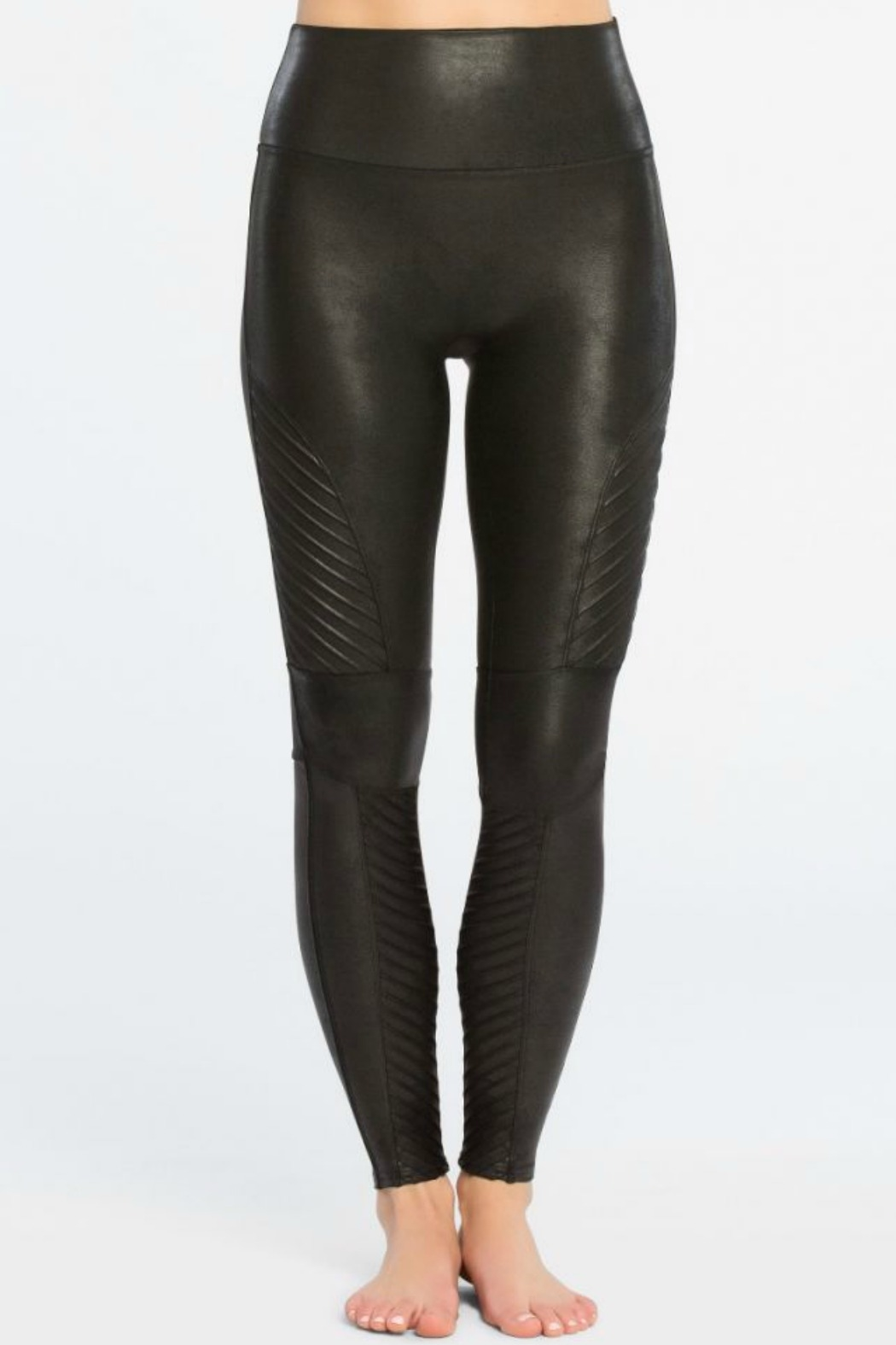 Spanx Faux Leather Moto Legging - Side Cropped Image