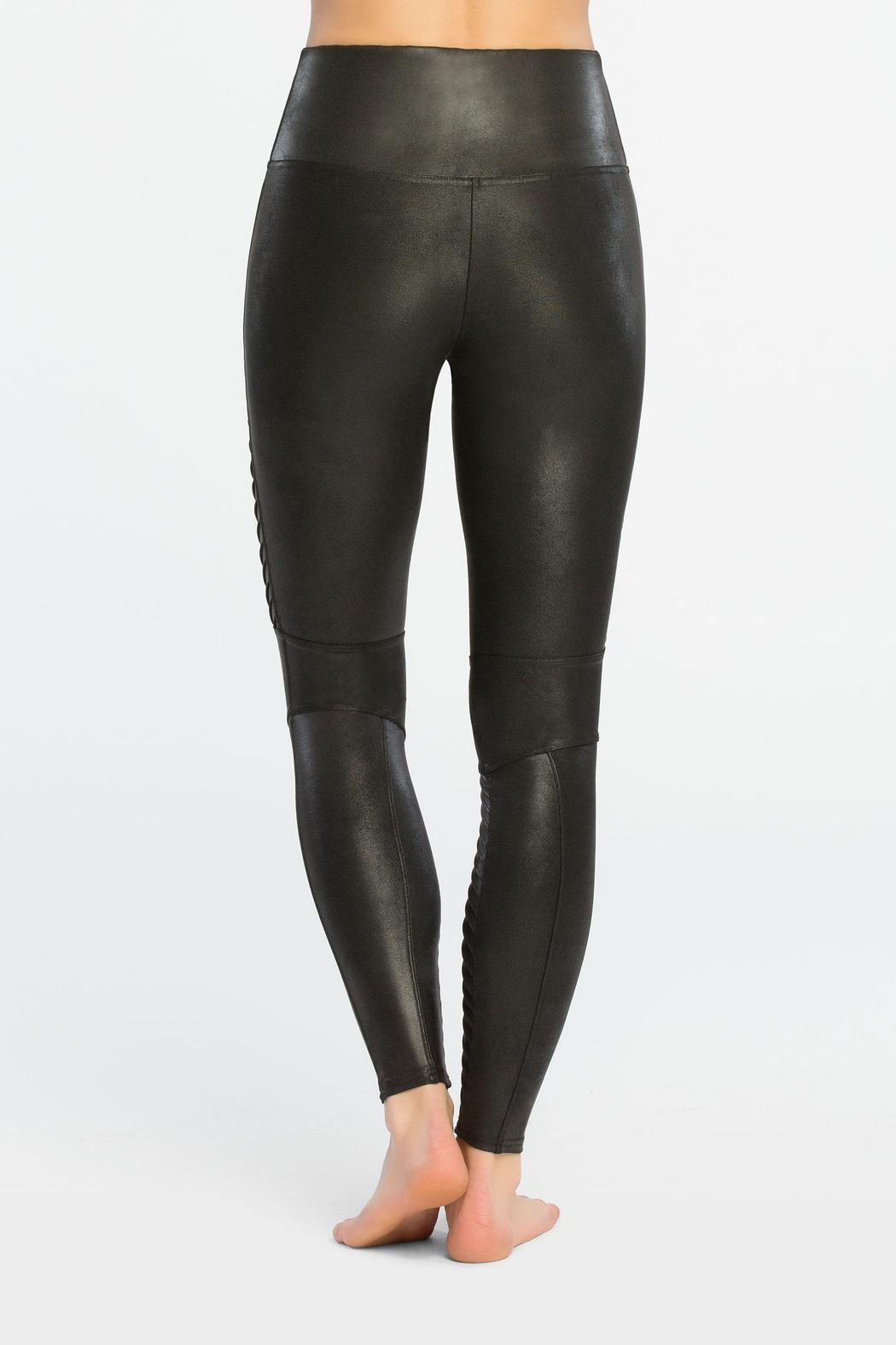Spanx Faux-Leather Moto Leggings - Side Cropped Image