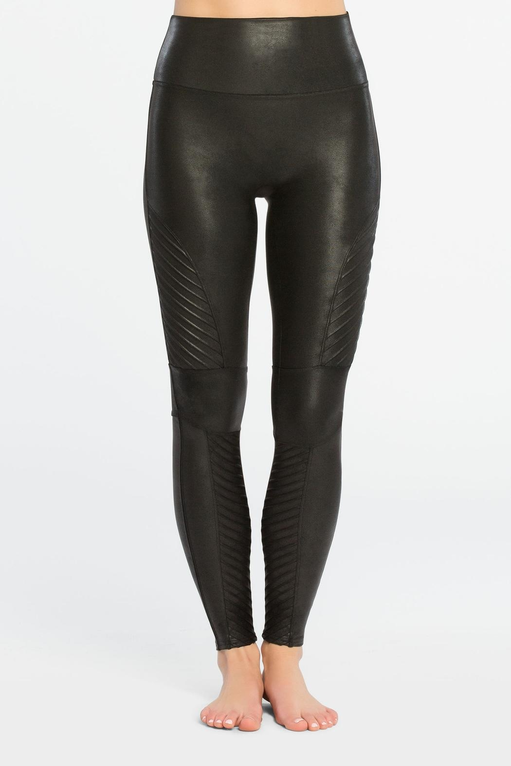 Spanx Faux-Leather Moto Leggings - Front Full Image