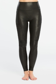 Spanx Faux-Leather Moto Leggings - Front full body