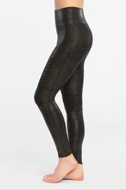 Spanx Faux-Leather Moto Leggings - Side cropped