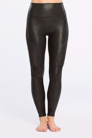 Spanx Faux-Leather Moto Leggings - Product Mini Image