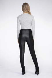 Dex Faux Leather Panel Leggings - Front full body