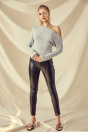 Idem Ditto  Faux Leather Pant - Product Mini Image