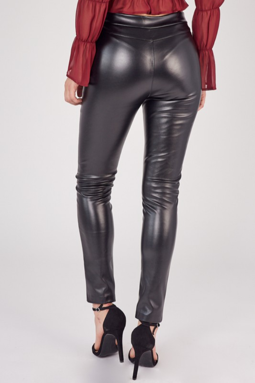 Idem Ditto  Faux Leather Pant - Side Cropped Image