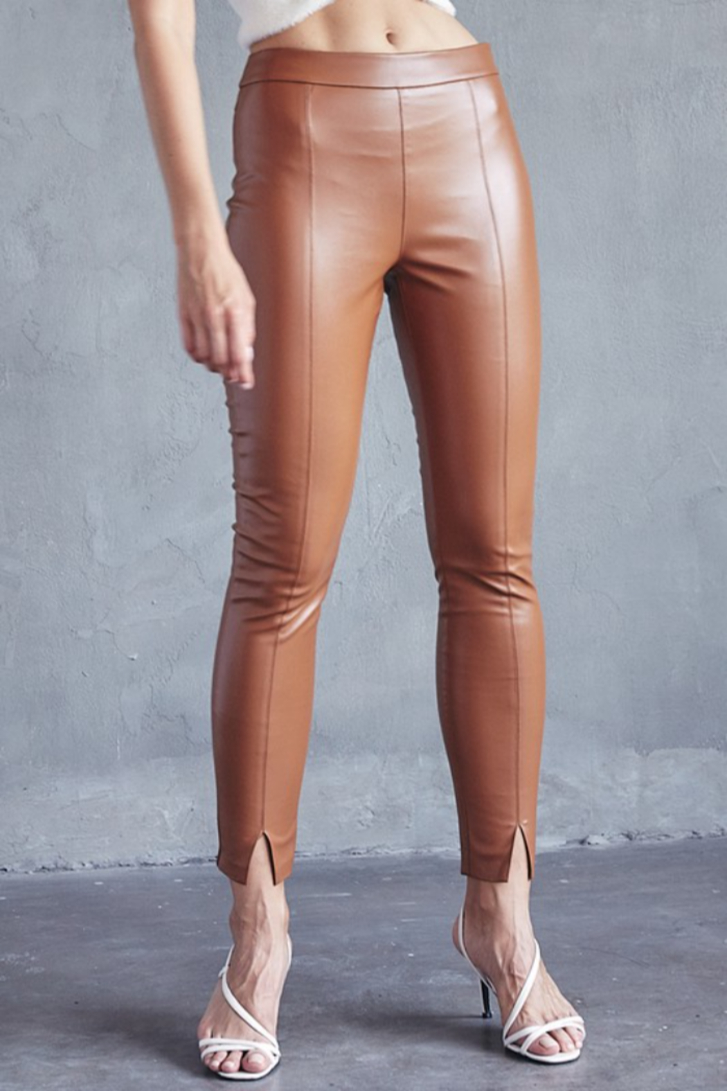 Idem Ditto  Faux Leather Pant - Front Full Image