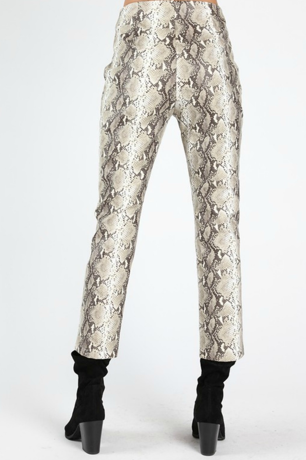 Wild Honey Faux Leather Pant - Side Cropped Image