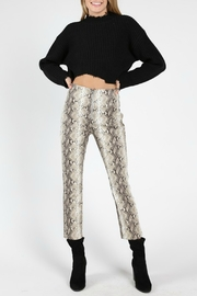 Wild Honey Faux Leather Pant - Front cropped