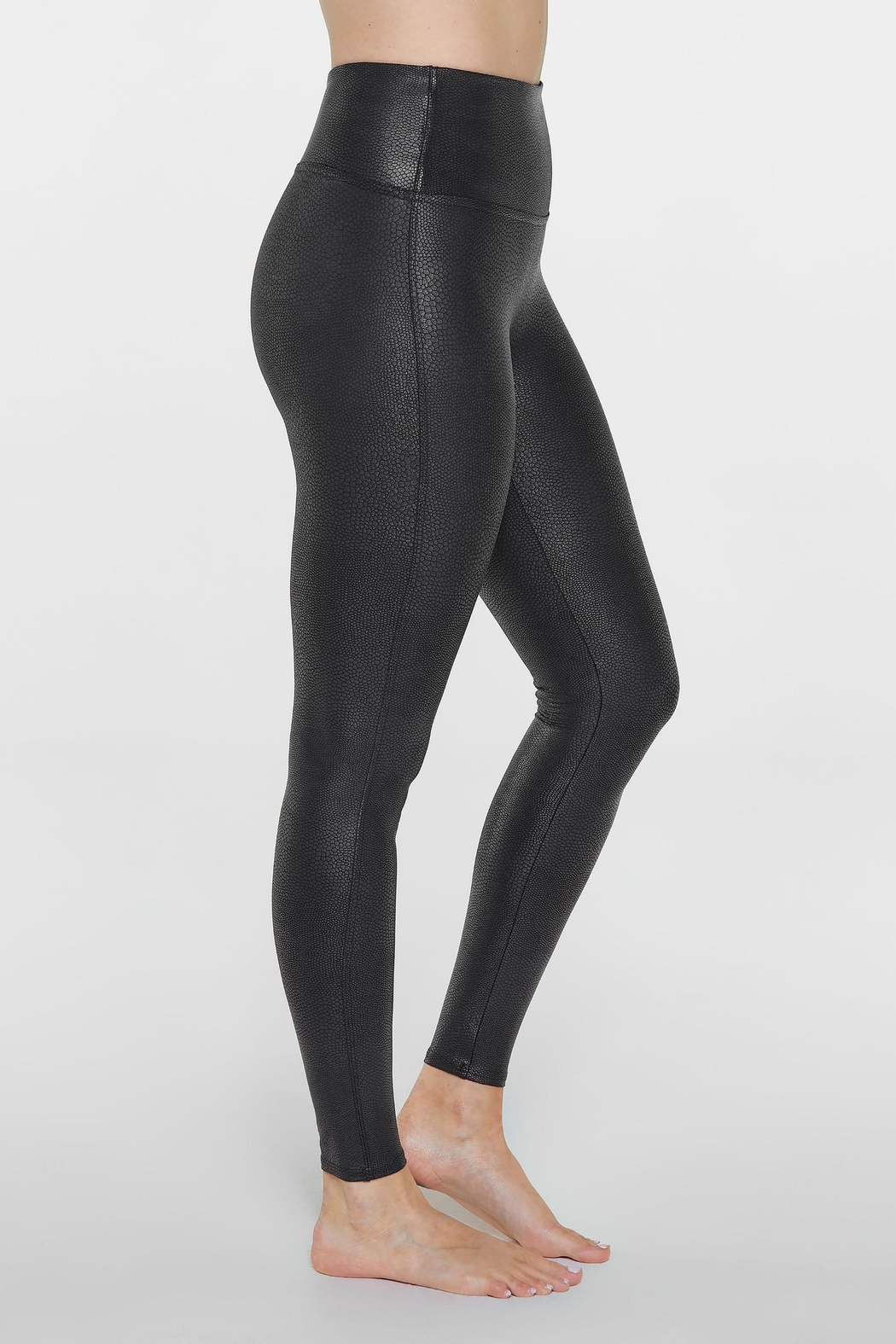 Spanx Faux-Leather Pebbled Legging - Side Cropped Image