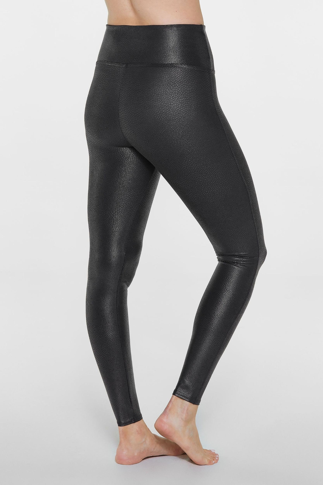 Spanx Faux-Leather Pebbled Legging - Back Cropped Image