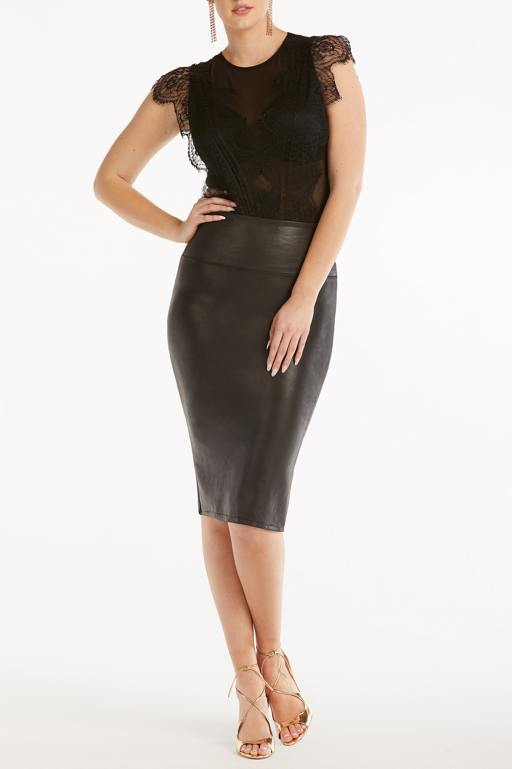 Spanx Faux Leather Pencil Skirt - Main Image
