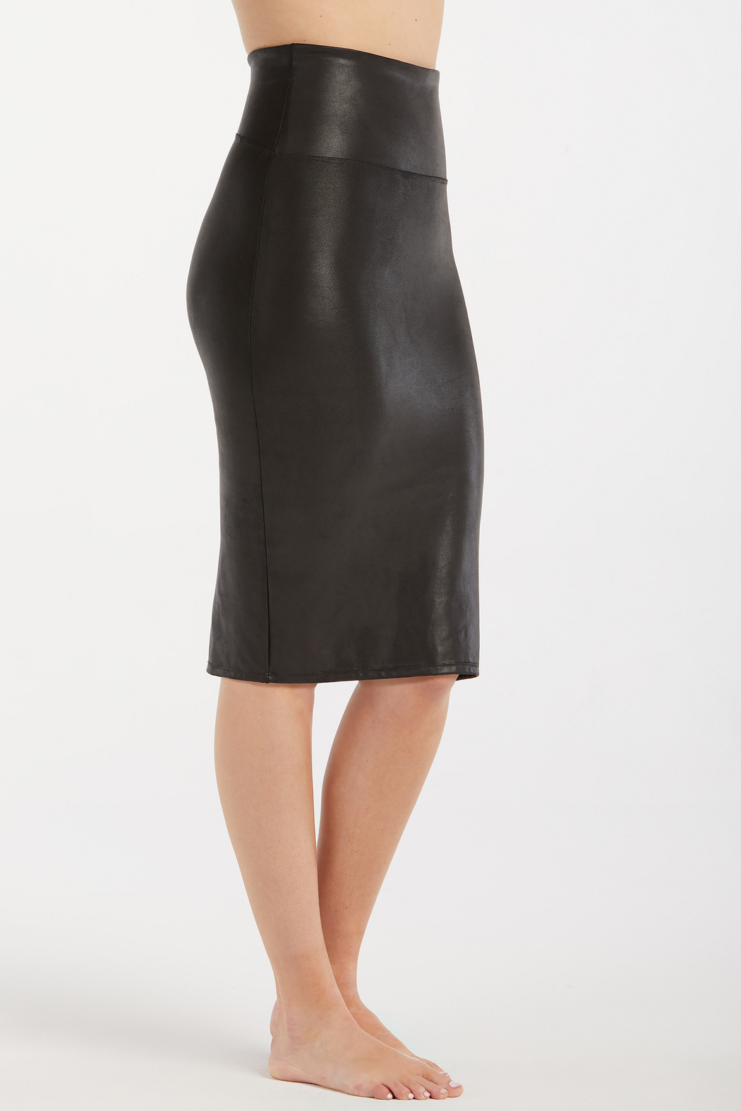 Spanx Faux Leather Pencil Skirt - Front Full Image