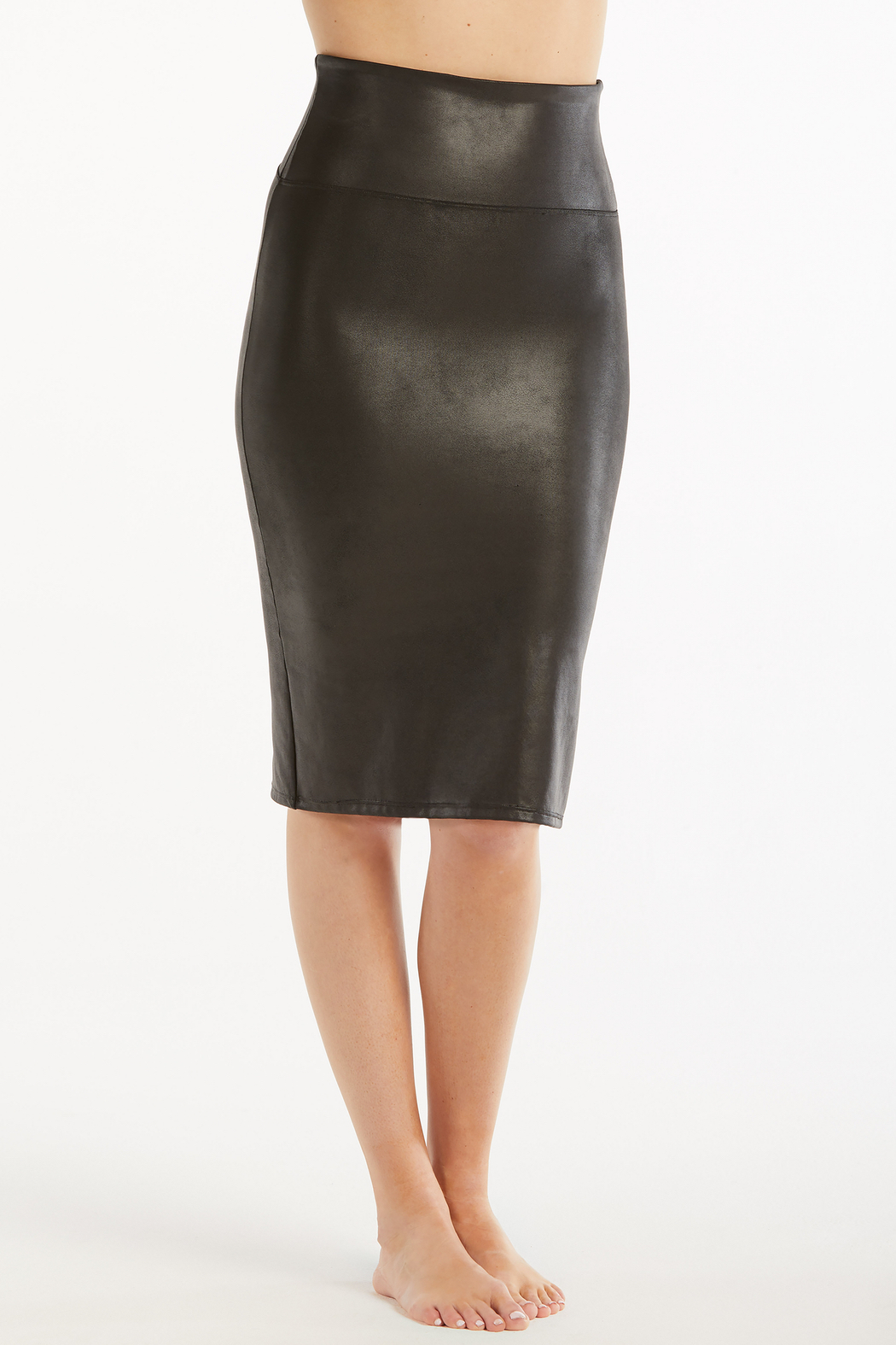 Spanx Faux Leather Pencil Skirt - Side Cropped Image