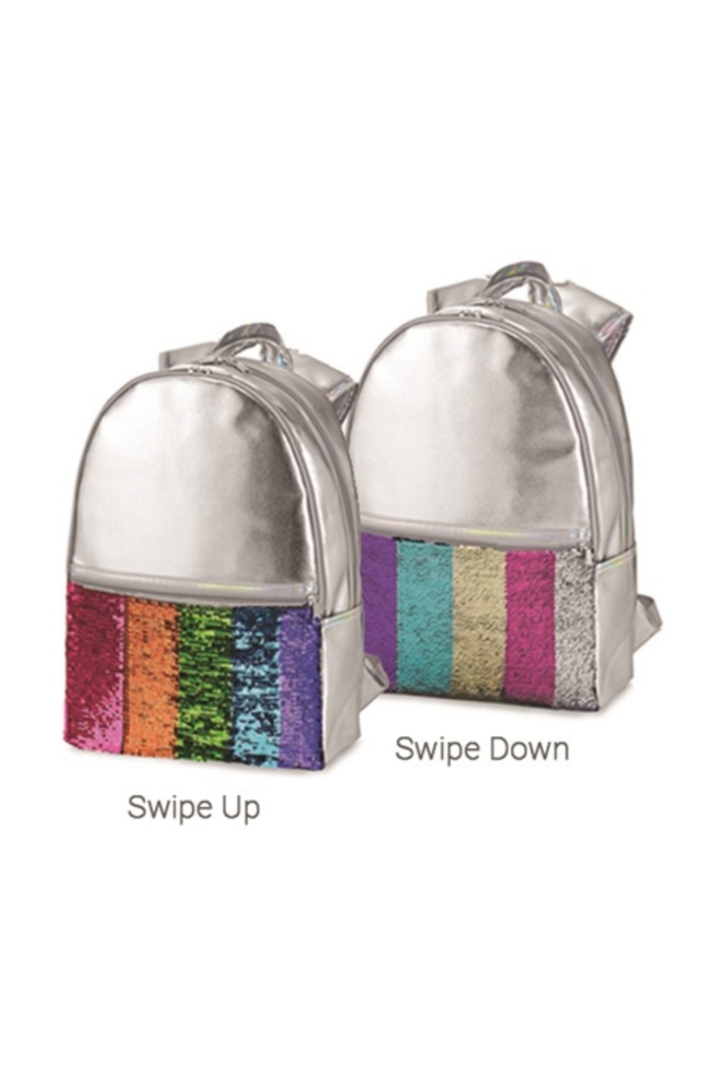 Top Trenz Faux Leather Reversible Sequin Backpack - Main Image