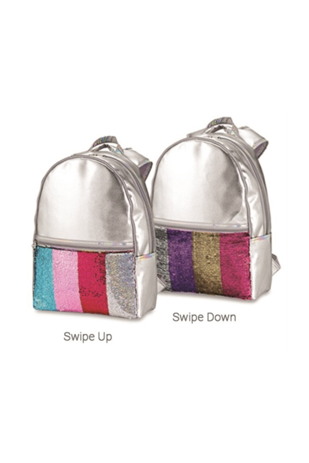 Top Trenz Faux Leather Reversible Sequin Backpack - Front Cropped Image