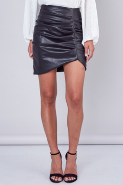 Do + Be  Faux Leather Ruched Skirt - Product List Image