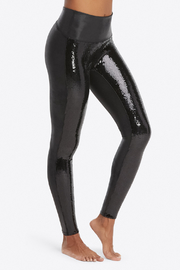 Spanx Faux Leather Sequin Leggings - Product Mini Image