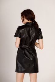 Moodie Faux Leather Shirt Dress - Other