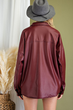 eesome Faux Leather Shirt Jacket - Alternate List Image