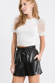 Idem Ditto  Faux Leather Short - Product Mini Image