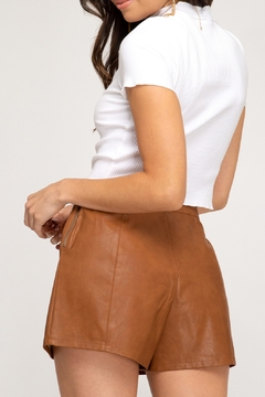 She + Sky Faux Leather Short - Alternate List Image