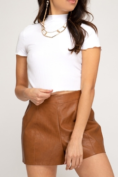 She + Sky Faux Leather Short - Product List Image