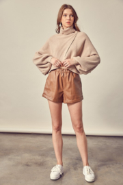 Mustard Seed Faux Leather Shorts - Other