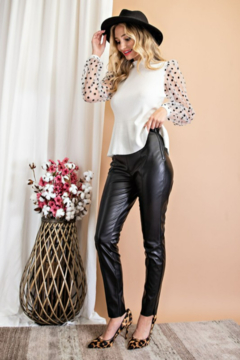 eesome Faux Leather Skinny Pants - Alternate List Image