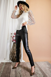 eesome Faux Leather Skinny Pants - Other
