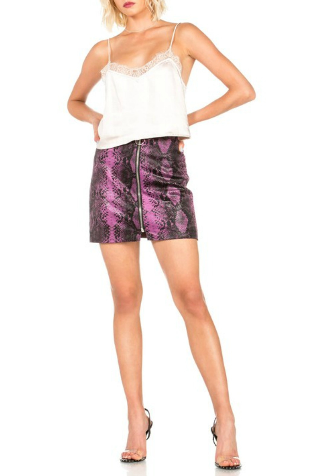 Dance and Marvel Faux Leather Skirt - Side Cropped Image