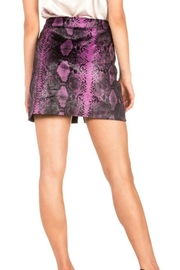 Dance and Marvel Faux Leather Skirt - Front full body